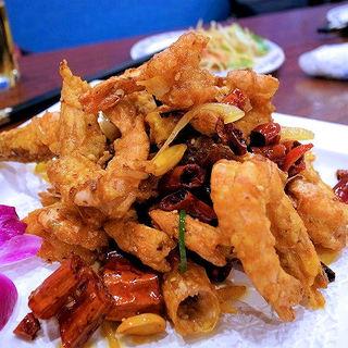 麻辣大虾(特製車エビ唐辛子炒め)(アリヤ 清真美食 池袋店)