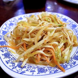 干し豆腐の和え物(干絲豆腐)(アリヤ 清真美食 池袋店)
