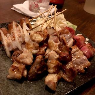串盛り(焼き鳥)(炭火 串焼きボンちゃん)