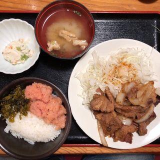 豚生姜焼き定食(やまや 大阪北浜店 )