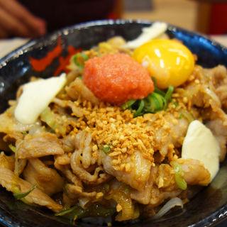 福岡明太バターすた丼(伝説のすた丼屋 福岡天神店)