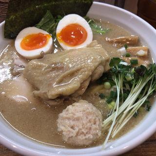鶏エスプレッソラーメン(全部のせ、中盛)(麺屋33 (めんやさんじゅうさん))