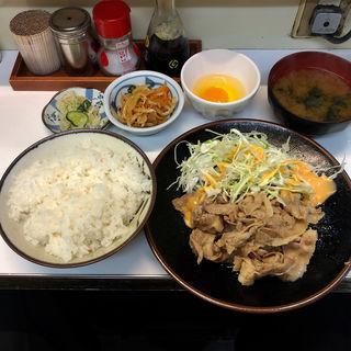 豚バラ生姜焼き定食(食事処 鳥はる )