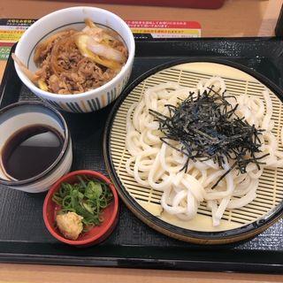 ざるうどんとミニ牛丼セット(なか卯 芝浦店 )
