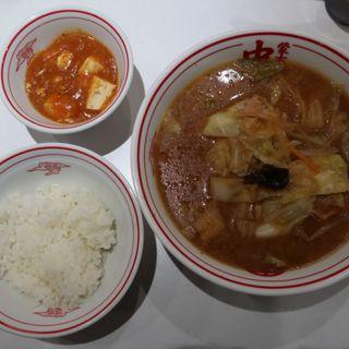 味噌タンメン+定食(蒙古タンメン中本 錦糸町店)