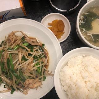 肉ニラ炒め定食(ラーメン餃子館 小次郎 新宿店 )