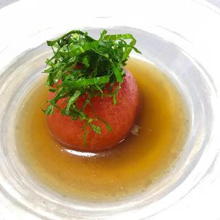 本日のオススメ 冷やしおでん トマト(おうちごはん わりかん)