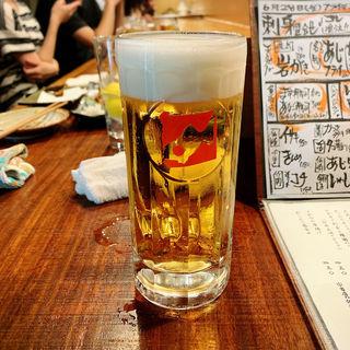 生ビール(魚哲)