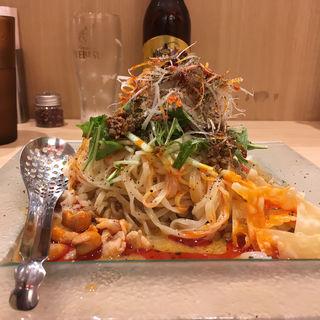 冷し汁なし担担麺(175°DENO担担麺 TOKYO)