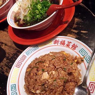 ラーメン並 焼きめし小(新福菜館 麻布十番店 (シンプクサイカン))