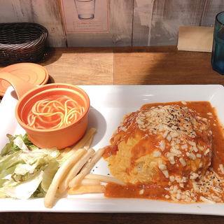 とろ〜り焼きチーズの蟹クリームオムライス(オムライスLABO)