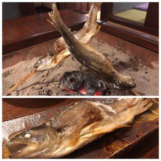 岩魚の塩焼き(濁河温泉 朝日荘 )