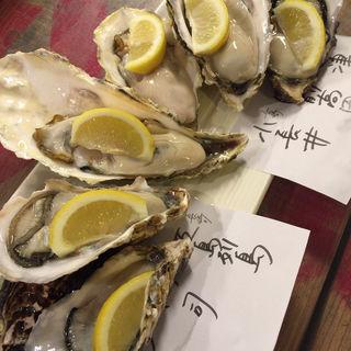 Aセットの真牡蠣の食べ比べ(地下の粋 )
