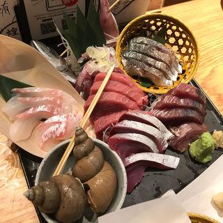 刺身3点盛り(魚金 田町店 (ウオキン))