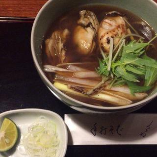牡蠣そば(利庵)