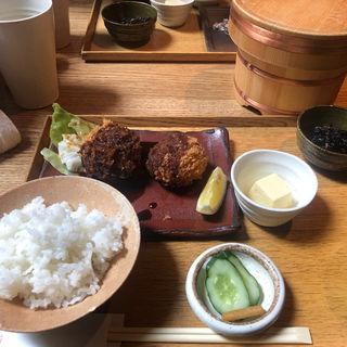 蟹クリームコロッケ定食(ごはんや一芯 代官山 )