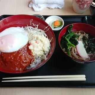 ハンバーグ丼・ミニそばセット(国田屋 (クニダヤ))