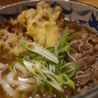 肉舞茸天うどん(うどん 千代 )