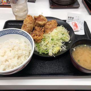 唐揚げ定食(吉野家 お茶の水店 )