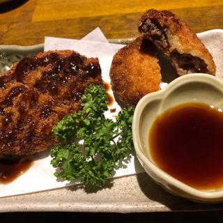 馬肉入りコロッケ(馬肉と煮込みとハイボール  桜山  福岡春吉店)