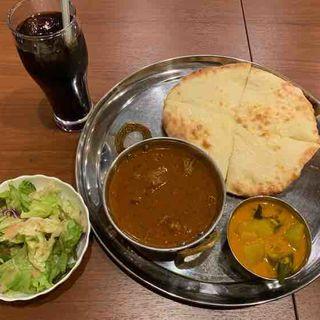 チーズナンセット(ハイデラバディマトン)(南インドキッチン (South Indian Kitchen))