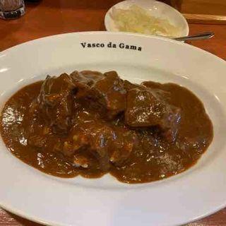 牛ゴロゴロ肉のカレー(ヴァスコ・ダ・ガマ 本店)