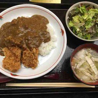 カツカレー定食(佐賀昇 (さがのぼり))