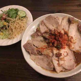 肉肉肉カレー+辛肉バクダン(Chai (チャイ))
