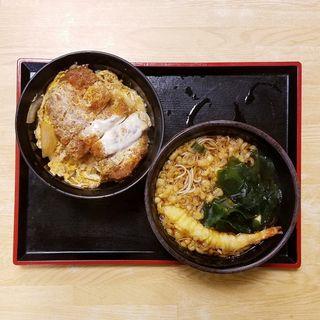 かつ丼セット(ゆで太郎 六番町店 (ゆでたろう))