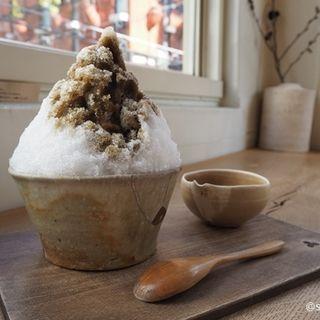 氷盛り大 ほうじ茶(wad omotenashi cafe )