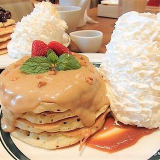 ほうじ茶ラテのパンケーキ(Eggs 'n Things 京都四条店)