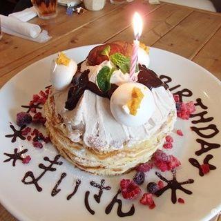 柚子モンブランとサクサクバニラパンケーキ(ユナイテッドカフェ (6+E UNITED cafe))