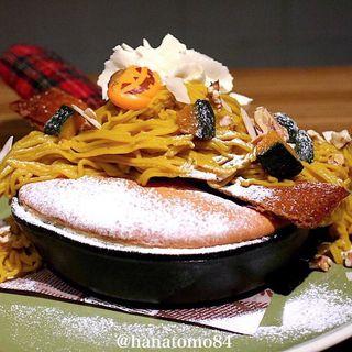 かぼちゃのモンブランパンケーキ(Lal de Feli)
