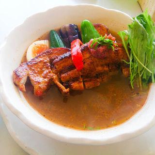 トンタン(豚タンドリーベジタブル)梅スープ(Curry Power パンチ (カリーパワーパンチ))