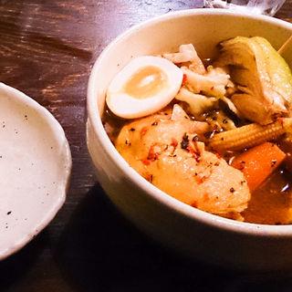 チキンスープカレー&串たまねぎ(スープカリー専門店 元祖 札幌ドミニカ)