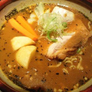 スープカリーラーメン(ラーメン研究所 我流る! (がるる))