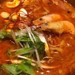 〆の海老担々麺