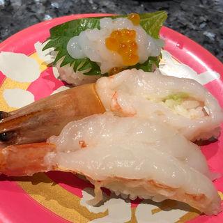 エビ3貫(回転寿司酒場 銀座沼津港)