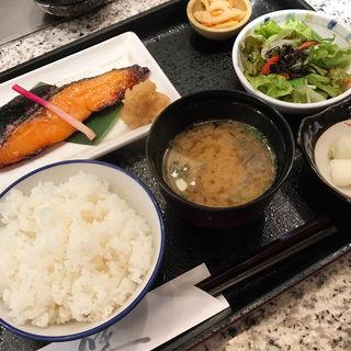 鮭酒粕漬け定食(魚久 人形町店 )