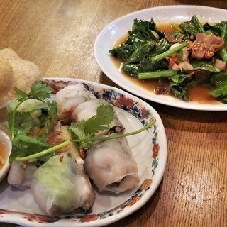 カイラン菜とカリカリポークのオイスターソース炒め(クルンテープ (KRUNGTEP))