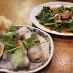 カイラン菜とカリカリポークのオイスターソース炒め