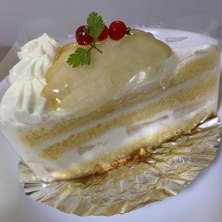 堤花さん農家の桃のショートケーキ(菓子工房 yamao (カシコウボウ ヤマオ))