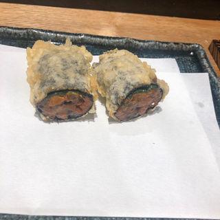 ウニの天ぷら(恵比寿 天ぷら魚新)