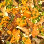 鰻、鱧、生雲丹の釜炊き