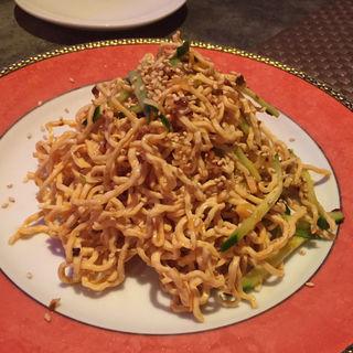 細切り豆腐のピリ辛和え(上海四川料理 廣安)