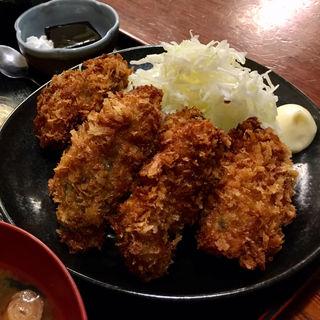 広島県産 牡蠣フライ(6個)定食(八丁堀 朋)