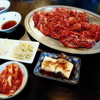 焼肉定食(定食用ロース140g)(カルビハウス 桃谷本店 )