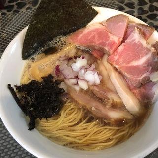 煮干しチャーシューらぁ麺(ラーメン 赤青 ムラサキ (RAMEN 赤青 MURASAKI))