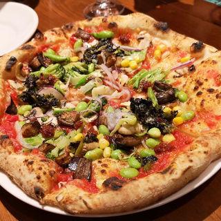 ンドゥイヤとたっぷり野菜のピッツァ(ラ・トリプレッタ)