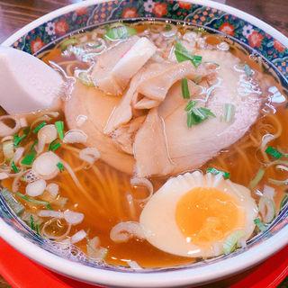 正油チャーシュー麺(麺厨房あじさい 紅店 (函館ベイ美食倶楽部店))
